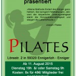 Pilates Flyer August